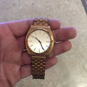 Men's Rose Gold Nixon Watch